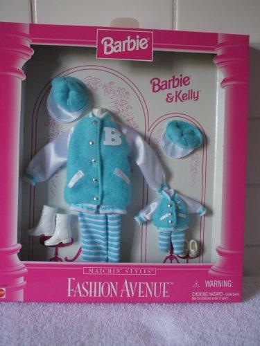 バービー バービー人形 チェルシー スキッパー ステイシー 【送料無料】Barbie & Kelly Fashion Avenue Matchin' Style Turquoise Letter Jackets, Pants and Hat (1996)バービー バービー人形 チェルシー スキッパー ステイシー