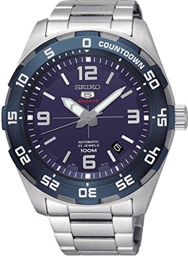 腕時計 セイコー メンズ 【送料無料】Seiko 5 Sports SRPB85 Men's Stainless Steel Blue Dial 100M Automatic Watch腕時計 セイコー メンズ