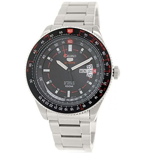 セイコー 腕時計 メンズ Seiko 5 Sports SRP613 J1 Silver Black Automatic Analog Men's Pilots Watchセイコー 腕時計 メンズ