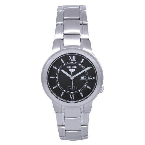 腕時計 セイコー メンズ 【送料無料】Seiko SNKA23 Mens Watch Stainless Steel Seiko 5 Automatic Black Dial腕時計 セイコー メンズ