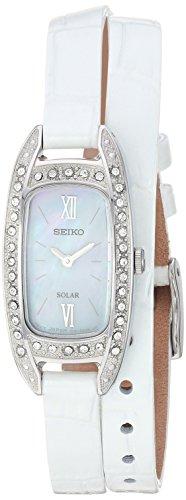 セイコー 腕時計 レディース 【送料無料】Seiko Women's Jewelry Stainless Steel Japanese-Quartz Watch with Leather Calfskin Strap, White, 7 (Model: SUP391)セイコー 腕時計 レディース