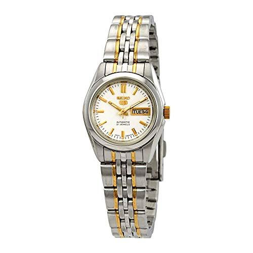 腕時計 セイコー レディース 【送料無料】Seiko Series 5 Automatic White Dial Ladies Watch SYMA35腕時計 セイコー レディース