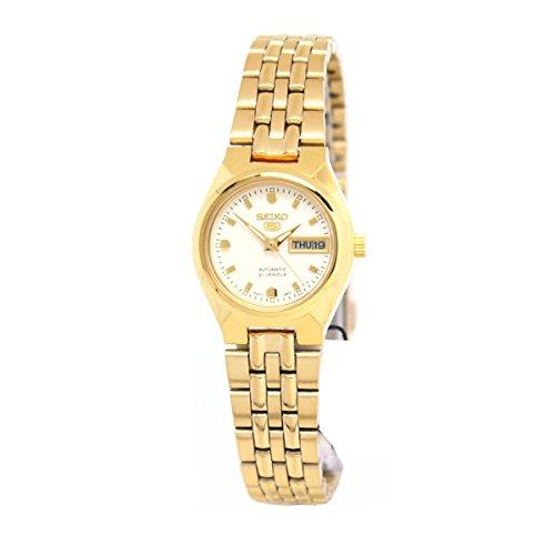 セイコー 腕時計 レディース Seiko 5#SYMK46 Women's Gold Tone Stainless Steel White Dial Automatic Watchセイコー 腕時計 レディース