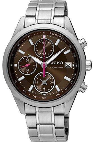 セイコー 腕時計 レディース Seiko Chronograph Brown Dial Ladies Watch SNDV55セイコー 腕時計 レディース