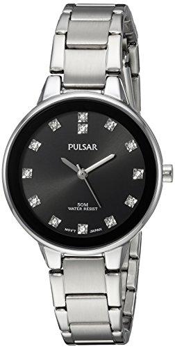 パルサー SEIKO セイコー 腕時計 レディース Pulsar Women's Quartz Watch with Stainless-Steel Strap, Silver, 7.5 (Model: PRS677)パルサー SEIKO セイコー 腕時計 レディース