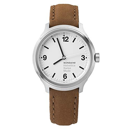 モンディーン 北欧 スイス 腕時計 メンズ Mondaine Men's Helvetica Stainless Steel Swiss-Quartz Watch with Leather Strap, Brown (Model: MH1.B3110.LGモンディーン 北欧 スイス 腕時計 メンズ
