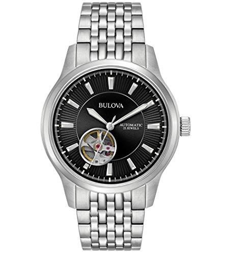 ブローバ 腕時計 メンズ 【送料無料】Bulova Automatic Black Dial Stainless Steel Men's Watch 96A191ブローバ 腕時計 メンズ