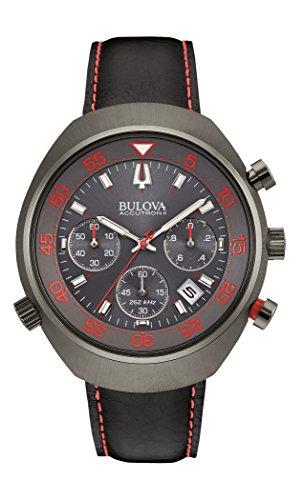 ブローバ 腕時計 メンズ 【送料無料】Bulova Mens Black Strap Red Accented Watch 98B252ブローバ 腕時計 メンズ