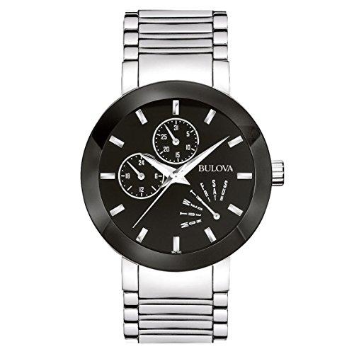 ブローバ 腕時計 メンズ 【送料無料】Men's Bulova Futuro Black Dial Stainless Steel Watch 96C105ブローバ 腕時計 メンズ