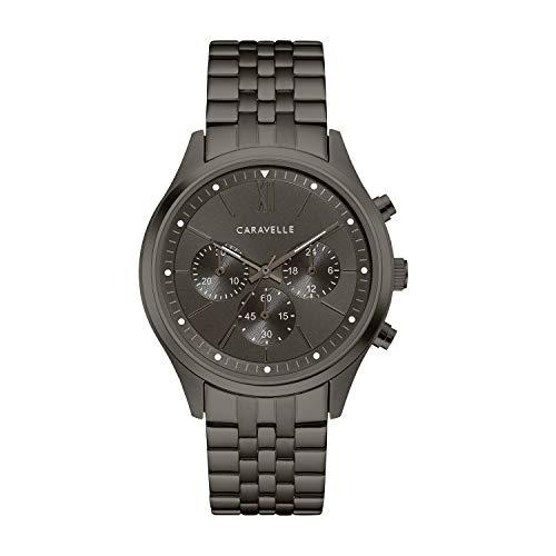 腕時計 ブローバ メンズ 【送料無料】Caravelle Designed by Bulova Men's Quartz Watch with Stainless-Steel Strap, Grey, 19.75 (Model: 45A141)腕時計 ブローバ メンズ