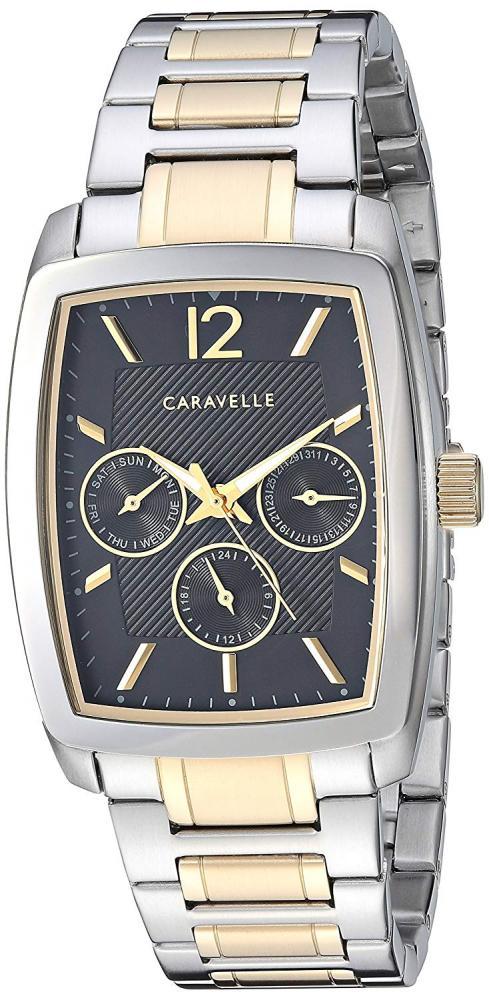 ブローバ 腕時計 メンズ Caravelle Men's Quartz Watch with Stainless-Steel Strap, Two Tone, 20 (Model: 45C113)ブローバ 腕時計 メンズ