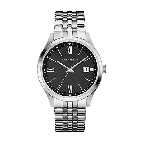 ブローバ 腕時計 メンズ 【送料無料】Caravelle Designed by Bulova Men's Quartz Watch with Stainless-Steel Strap, Silver, 20 (Model: 43B158)ブローバ 腕時計 メンズ
