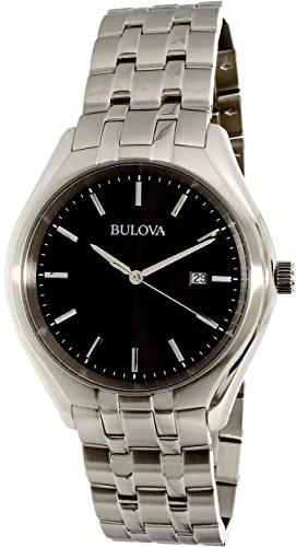 ブローバ 腕時計 メンズ Bulova 96B265 Black Date Dial Silver Tone Classic Men's Watchブローバ 腕時計 メンズ
