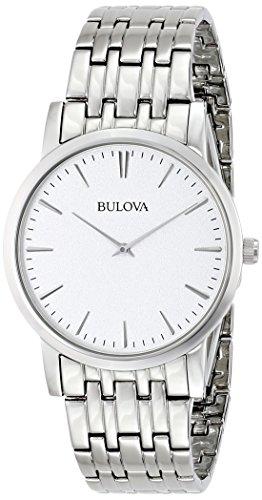 ブローバ 腕時計 メンズ Mens Watch Bulova 96A115 Stainless Steel Link Bracelet Silver Tone Dial Quartzブローバ 腕時計 メンズ