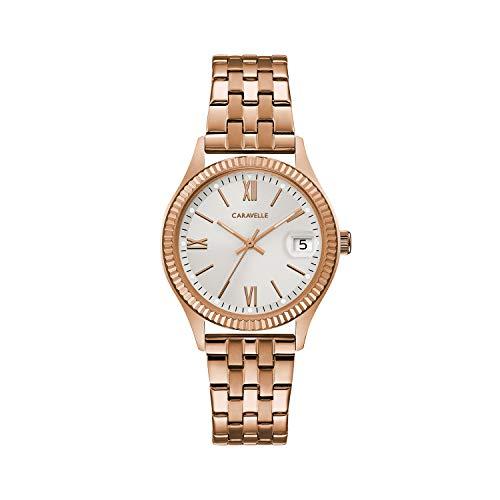 ブローバ 腕時計 メンズ 【送料無料】Caravelle Designed by Bulova Men's Quartz Watch with Stainless-Steel Strap, Rose Gold, 13.5 (Model: 44M115)ブローバ 腕時計 メンズ