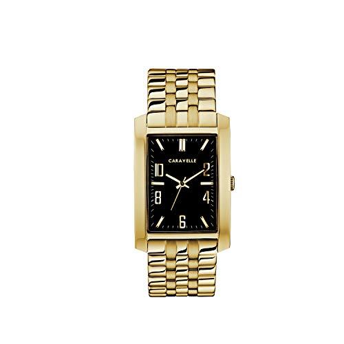 ブローバ 腕時計 メンズ Caravelle Designed by Bulova Men's Quartz Watch with Stainless-Steel Strap, Gold, 22 (Model: 44A110)ブローバ 腕時計 メンズ