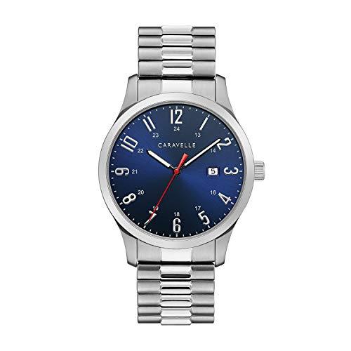 ブローバ 腕時計 メンズ 【送料無料】Caravelle Designed by Bulova Men's Quartz Watch with Stainless-Steel Strap, Silver, 20 (Model: 43B161)ブローバ 腕時計 メンズ