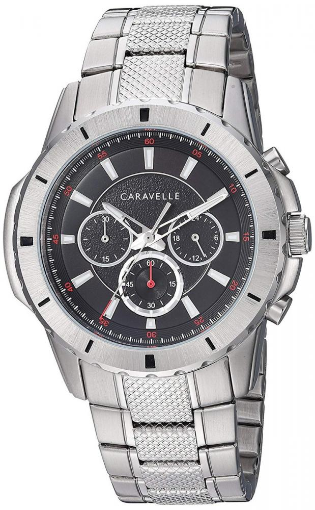 ブローバ 腕時計 メンズ 【送料無料】Caravelle Designed by Bulova Men's Quartz Watch with Stainless-Steel Strap, Silver, 23.5 (Model: 43A147)ブローバ 腕時計 メンズ