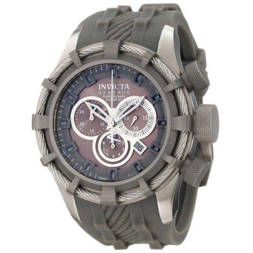 インヴィクタ インビクタ ボルト 腕時計 メンズ 1225 【送料無料】Invicta Men's 1225 Reserve Bolt Chronograph Titanium Tone Dial Titanium Tone Silicone Watchインヴィクタ インビクタ ボルト 腕時計 メンズ 1225