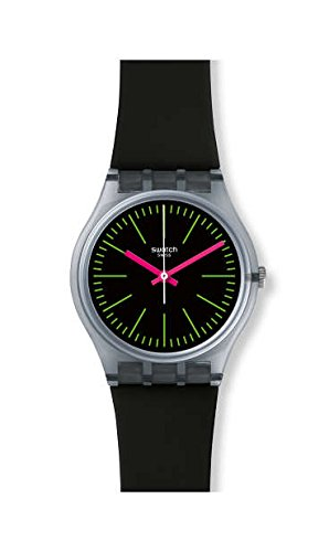 スウォッチ 腕時計 メンズ Swatch Fluo Loopy GM189 Black Silicone Quartz Fashion Watchスウォッチ 腕時計 メンズ