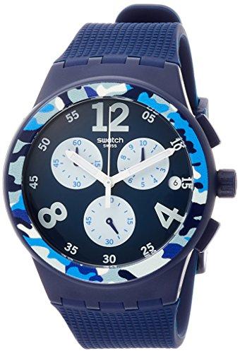 スウォッチ 腕時計 メンズ 夏の腕時計特集 【送料無料】Swatch Men's Camoblu SUSN414 Blue Silicone Swiss Quartz Fashion Watchスウォッチ 腕時計 メンズ 夏の腕時計特集