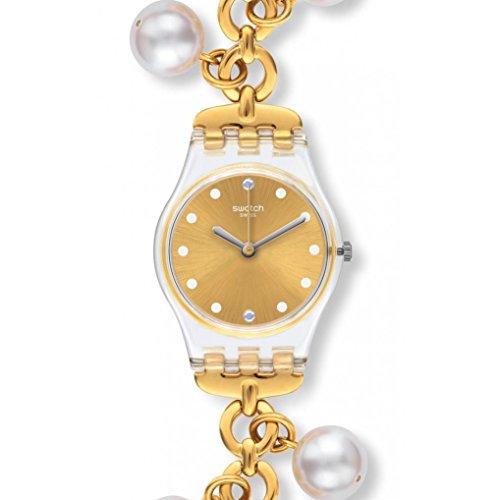 スウォッチ 腕時計 レディース 夏の腕時計特集 【送料無料】Swatch LK363G Women's Charming Delight Gold Tone Dial Yellow Gold Steel Charm Bracelet Watchスウォッチ 腕時計 レディース 夏の腕時計特集