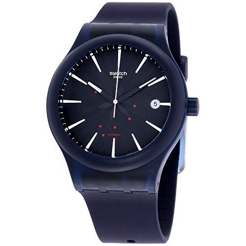 スウォッチ 腕時計 メンズ Swatch Originals Sistem Ink Blue Dial Silicone Strap Unisex Watch SUTN404スウォッチ 腕時計 メンズ