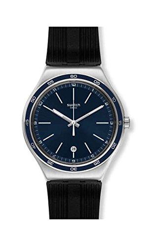 スウォッチ 腕時計 メンズ Swatch Irony Camarade Blue Dial Silicone Strap Unisex Watch YWS428スウォッチ 腕時計 メンズ