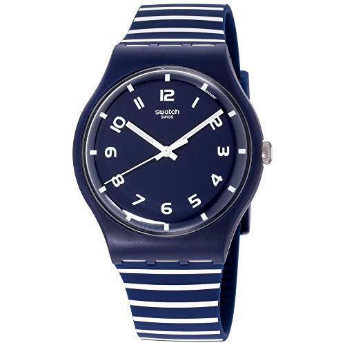 スウォッチ 腕時計 メンズ 【送料無料】Swatch Originals Striure Blue Dial Silicone Strap Unisex Watch SUON130スウォッチ 腕時計 メンズ