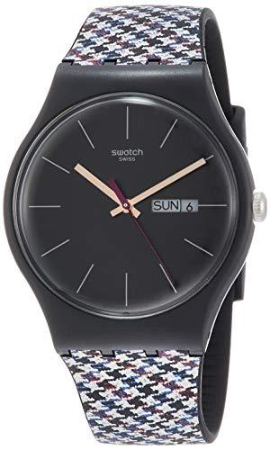 スウォッチ 腕時計 メンズ Swatch Originals Warmth Black Dial Silicone Strap Unisex Watch SUOB725スウォッチ 腕時計 メンズ