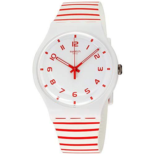 スウォッチ 腕時計 メンズ Swatch Originals Redure White Dial Silicone Strap Unisex Watch SUOW150スウォッチ 腕時計 メンズ