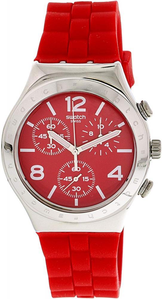 スウォッチ 腕時計 メンズ 【送料無料】Swatch Mens Chronograph Quartz Watch with Silicone Strap YCS117スウォッチ 腕時計 メンズ