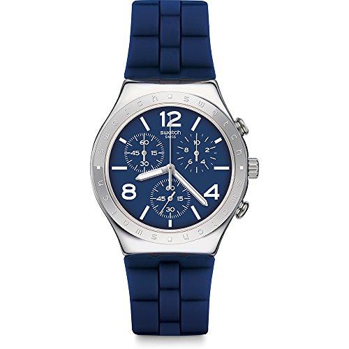スウォッチ 腕時計 メンズ 【送料無料】Swatch Bleu De Bienne YCS115 Silver Silicone Swiss Quartz Fashion Watchスウォッチ 腕時計 メンズ