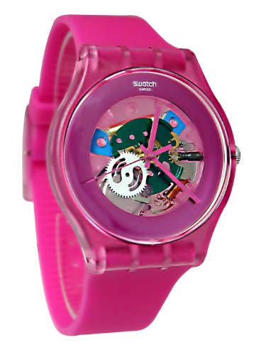 スウォッチ 腕時計 メンズ 【送料無料】Swatch SUOP100 pink lacquered pink dial pink plastic strap unisex watch NEWスウォッチ 腕時計 メンズ