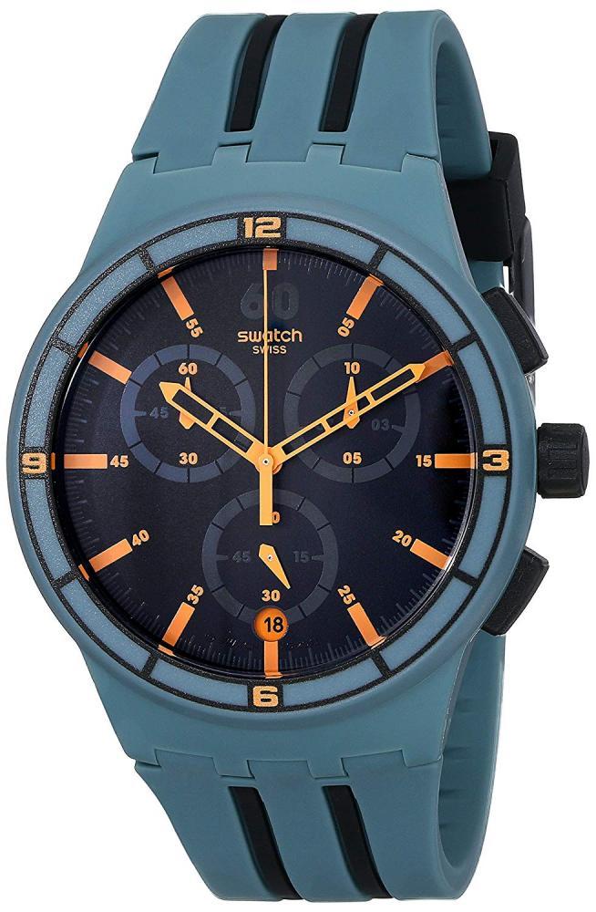 スウォッチ 腕時計 メンズ 【送料無料】Swatch Men's STSUSG401 XXSpeed Analog Display Quartz Green Watchスウォッチ 腕時計 メンズ