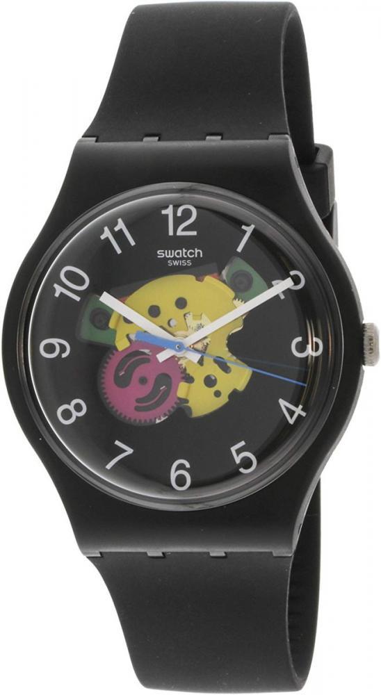 スウォッチ 腕時計 レディース Swatch Originals Patchwork Black Dial Silicone Strap Unisex Watch SUOB140スウォッチ 腕時計 レディース