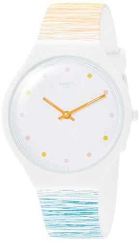 スウォッチ 腕時計 レディース 【送料無料】Swatch Women's Skinesquisse SVOW103 White Silicone Swiss Quartz Fashion Watchスウォッチ 腕時計 レディース