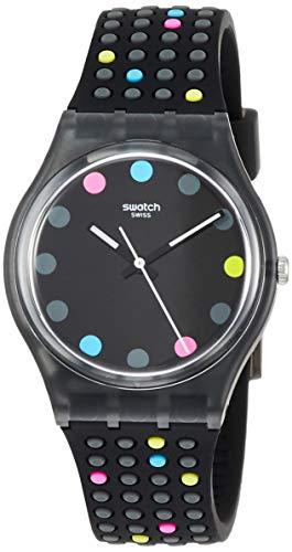スウォッチ 腕時計 レディース Swatch Originals Boule A Facette Black Dial Silicone Strap Unisex Watch GB305スウォッチ 腕時計 レディース