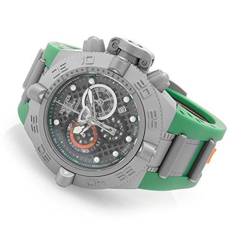 インヴィクタ インビクタ サブアクア 腕時計 メンズ 【送料無料】INVICTA Subaqua Men 50mm Stainless Steel Shot-blast Black+Gunmetal+Green dial 5050.E Quartzインヴィクタ インビクタ サブアクア 腕時計 メンズ