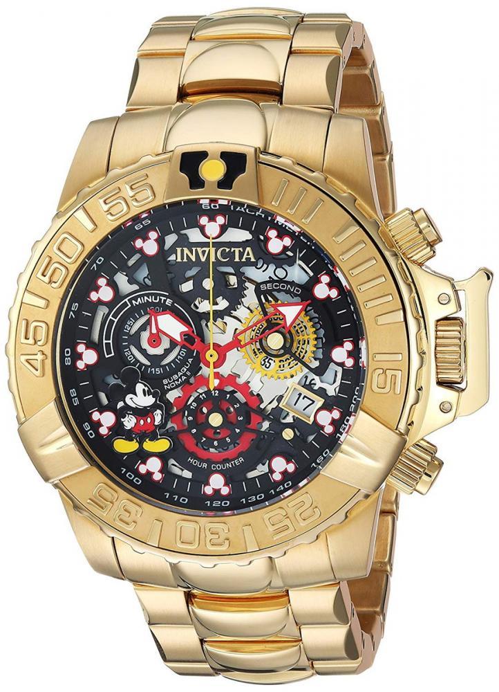 インヴィクタ インビクタ 腕時計 メンズ ディズニー Invicta Men's Disney Limited Edition Analog-Quartz Watch with Stainless-Steel Strap, Gold, 24 (Model: 24504)インヴィクタ インビクタ 腕時計 メンズ ディズニー