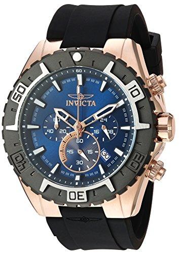 インヴィクタ インビクタ 腕時計 メンズ 【送料無料】Invicta Men's Aviator Gold Quartz Watch with Silicone Strap, Black, 10 (Model: 22524)インヴィクタ インビクタ 腕時計 メンズ