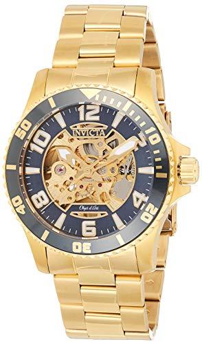 インヴィクタ インビクタ 腕時計 メンズ Invicta Men's Objet D Art Automatic-self-Wind Watch with Stainless-Steel Strap, Gold, 22 (Model: 22604)インヴィクタ インビクタ 腕時計 メンズ