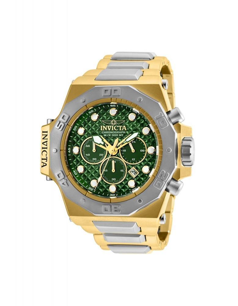 インヴィクタ インビクタ 腕時計 メンズ 【送料無料】Invicta Men's 26044 Akula Quartz Chronograph Green Dial Watchインヴィクタ インビクタ 腕時計 メンズ