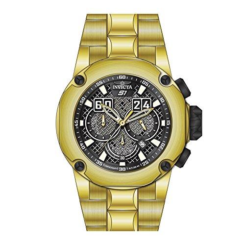 インヴィクタ インビクタ 腕時計 メンズ 25296 - INVICTA S1 Rally Men 52mm Stainless Steel Black + Stainless Steel Black dial VD53 Quartzインヴィクタ インビクタ 腕時計 メンズ
