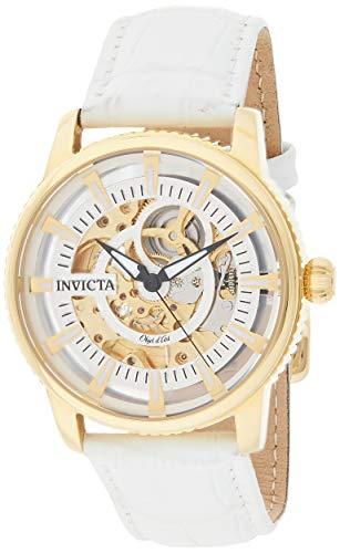 インヴィクタ インビクタ 腕時計 メンズ 【送料無料】Invicta Men's Objet d'Art Stainless Steel Automatic-self-Wind Watch with Leather Calfskin Strap, White, 22 (Model: 22643)インヴィクタ インビクタ 腕時計 メンズ