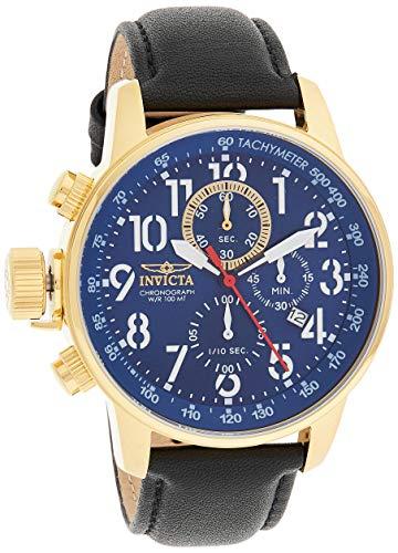 腕時計 インヴィクタ インビクタ メンズ 【送料無料】Invicta Men's Connection Stainless Steel Quartz Watch with Leather Calfskin Strap, Black, 20 (Model: 24737)腕時計 インヴィクタ インビクタ メンズ