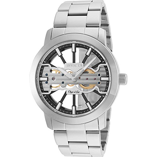 インヴィクタ インビクタ 腕時計 メンズ 【送料無料】Invicta Men's 25269 Objet D Art Mechanical 2 Hand Black, Silver Dial Watchインヴィクタ インビクタ 腕時計 メンズ