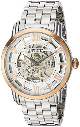インヴィクタ インビクタ 腕時計 メンズ 【送料無料】Invicta Men's Objet d'Art Automatic-self-Wind Watch with Stainless-Steel Strap, Silver, 22 (Model: 22628)インヴィクタ インビクタ 腕時計 メンズ
