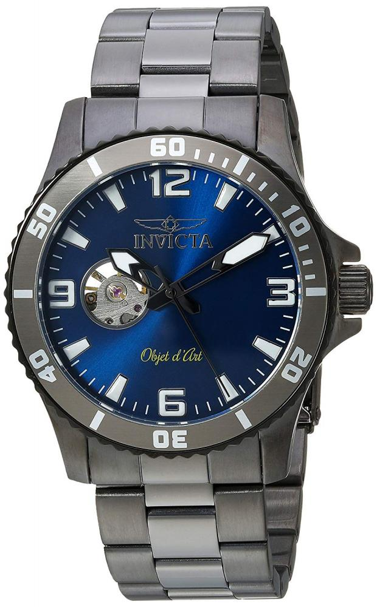 インヴィクタ インビクタ 腕時計 メンズ Invicta Men's Objet d'Art Automatic-self-Wind Watch with Stainless-Steel Strap, Grey, 22 (Model: 22626)インヴィクタ インビクタ 腕時計 メンズ