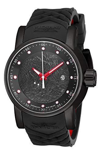 インヴィクタ インビクタ 腕時計 メンズ 【送料無料】Invicta Men's Rally Stainless Steel Japanese Automatic Watch with Silicone Strap, Black, Red, 24 (Model: 18213)インヴィクタ インビクタ 腕時計 メンズ